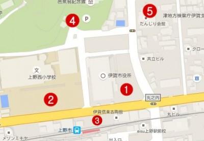 上野天神祭 駐車場